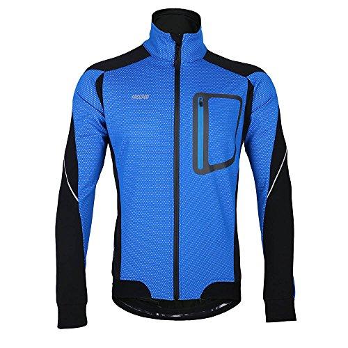 """Lixada Montaña Arsuxeo chaqueta de invierno caliente chaqueta de manga larga de ciclismo de luz de bicicleta a prueba de viento de la camiseta de la ropa, color - azul, tamaño M(EU) = Brust 44,9"""""""