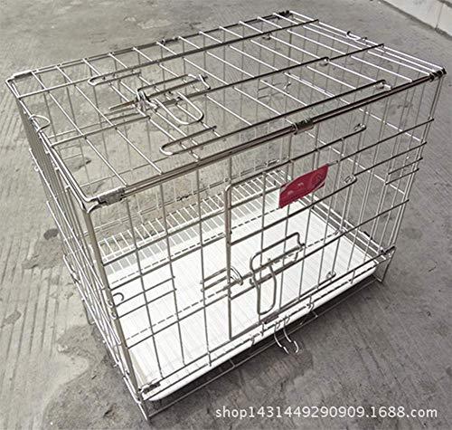 GYYL Haustier-faltender Edelstahl-Hundekäfig-Kaninchen-Käfig Nicht magnetischer Haustier-Käfig-faltender Haustier-Käfig