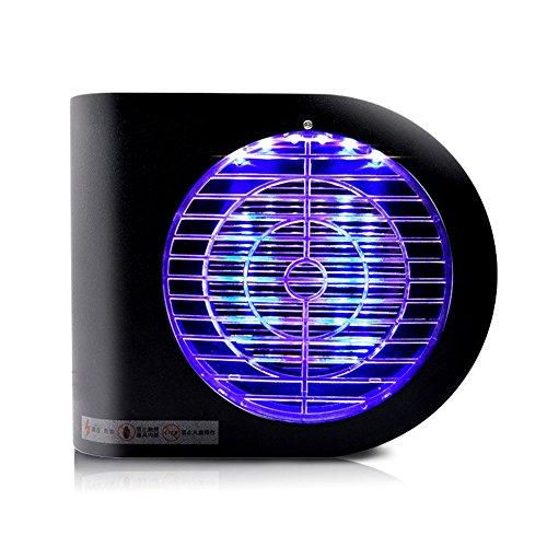 LIQICAI Lámpara del Mosquito LED UV Trampa De Moscas Exterminador De Insectos Choque Eléctrico, Matar, Insecto Toma 220V para Interiores, Sala De Estar (Color : Negro, Tamaño : 24x7x20cm)
