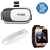 Captcha Lenovo VIBE P1 Compatible Certified 3D Vr Box, With Bluetooth Controller, Virtual Reality Headset Version 2.0 . 3D Glasses with MI Band Bluetooth 4.0 Waterproof Smart Bracelet (One Year Warranty)
