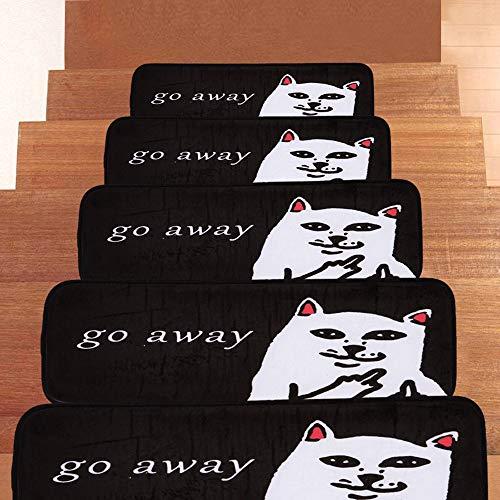 Textilfaser - Stufenmatten,Stufenmatten Kleinformat Für Raumspartreppen/Wendeltreppen(22 X 70 cm) (Size : 15pieces)