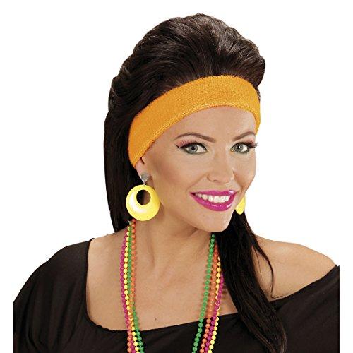 Amakando Creolen Modeschmuck Neon Ohrringe gelb Mode Ohrstecker 80er Jahre Damen Schmuck Party Outfit Verkleidung 90er Ohrclips Ohrschmuck (80er Modeschmuck Jahre)