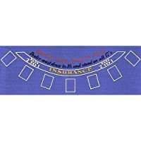 Trademark Poker Blue Felt Blackjack Layout 36-Inch x 72-Inch