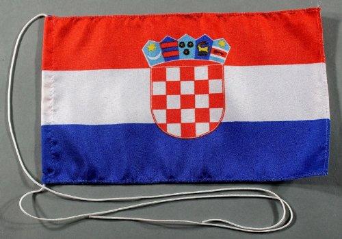 Kroatien 15x25 cm Tischflagge in Profi - Qualität Tischfahne Autoflagge Bootsflagge Motorradflagge Mopedflagge
