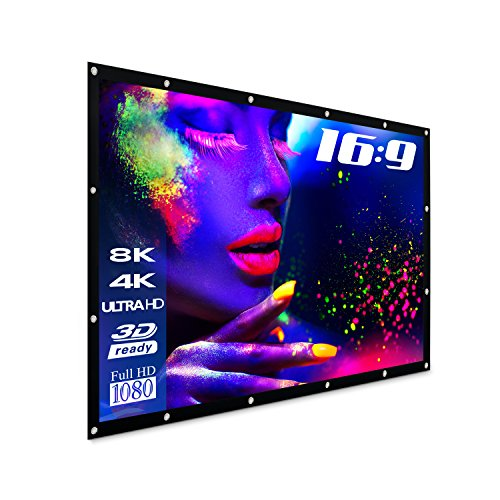 "eSmart Germany Spann-Leinwand SPANMI [Größenauswahl] 400 x 225 cm (180"") 16:9 | Vollmaskierung | Heimkino Beamer Projektionsleinwand Outdoor Leinwand LCD LED"