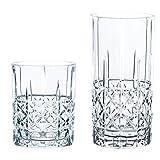 Spiegelau & Nachtmann 100719 Gläser-Set, 12-teilig, Highland Diamond, Glas, Transparent, 28.4 x 28.4 x 19 cm, 12 Einheiten