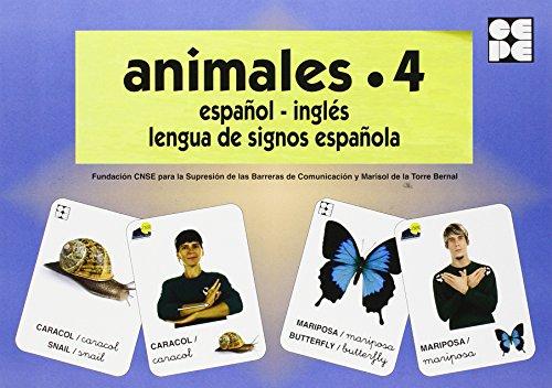 Animales 4. Baraja Español-Ingles. Lengua De Signos Española (Vocabulario Fotografico Element) por Vv.Aa.