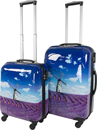 Leichtes ABS Hartschalen Kofferset Marke normani® in verschiedenen Farben wählbar! Lavendel