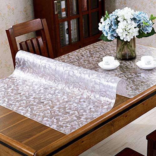Danggl tovaglia trasparente,pvc anti-scottatura in plastica morbida tavolo in vetro opaco tavolo da tè rettangolare custodia protettiva quadrata spessore 1,5 mm (colore : a, dimensioni : 60cm*120cm)