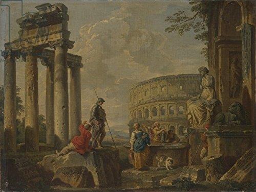 """Leinwand-Bild 70 x 50 cm: """"The Coliseum amongst Roman Ruins, c.1730 (oil on canvas)"""", Bild auf Leinwand"""