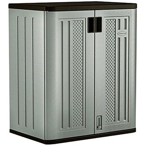 Suncast bmc3600® de alta calidad de plástico Garden & almacenamiento en garajes, alacena armario estantería con soporte de metal (9Cubic ft