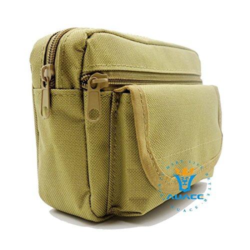 Multifunktions Survival Gear Tactical Beutel MOLLE Tasche Military Assault Taille Pack, Outdoor Camping Tragbare Travel Bags Handtaschen Werkzeug Taschen Taille Tasche Handytasche KH