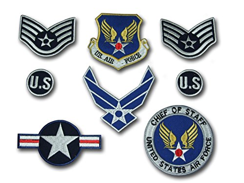 us-army-air-force-usaf-top-gun-iron-on-patch-super-set-aufnaher-bugelbild-iron-on-patches-applikatio