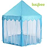 Baybee Princess&Prince Castle Kids Play Tent Large Portable Children Playhouse For Boys Girls Toddlers-Blue