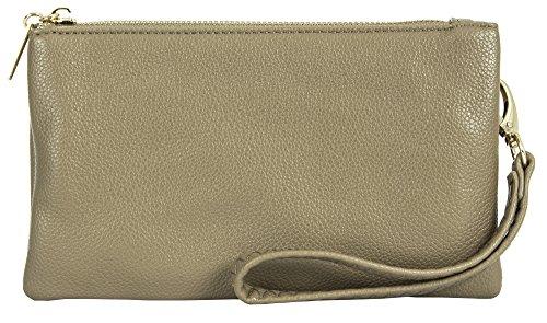 Big Handbag Shop, Borsetta da polso donna Style 2 - Taupe