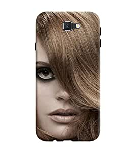 Samsung Galaxy J7 Prime Back Cover designer 3D Hard Mobile Case printed Cover for Samsung j7 Prime by Gismo - Girl Hairstyle