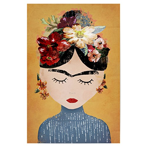 artboxONE Poster 30x20 cm Menschen Frida (Yellow Version) hochwertiger Design Kunstdruck - Bild Menschen von treechild