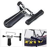 Nahuaa Kettennieter Fahrrad Ketten Werkzeug Verstellbar Bike Chain Tool Kettennietdrücker Fahrradketten Entferner Werkzeug Edelstahl Schwarz