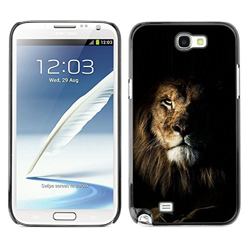 Plastic Shell Protective Case Cover    Samsung Galaxy Note 2 N7100    Nature Mane Roar King Cat @XPTECH (Samsung Galaxy Stellar Hard Case)