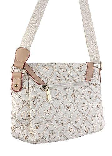 # 801Giulia Pieralli, Borsa da donna nero Glamour Borsa A Mano Borsa da donna borsa borsa con manici in pelle bianco