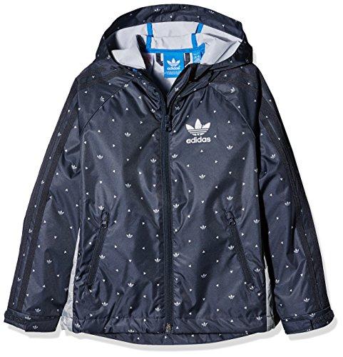 Adidas Clima365YWF Windbreaker Giacca, Ragazzo, YWF Windbreaker, Legend Ink/Mgh Solid Grey/Bluebird, 176
