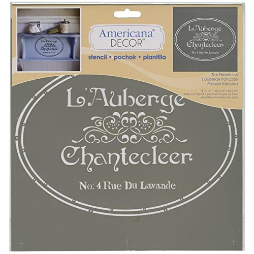 Deco Art Kunststoff Americana Schablone 12Zoll x 12-inch-The French Inn
