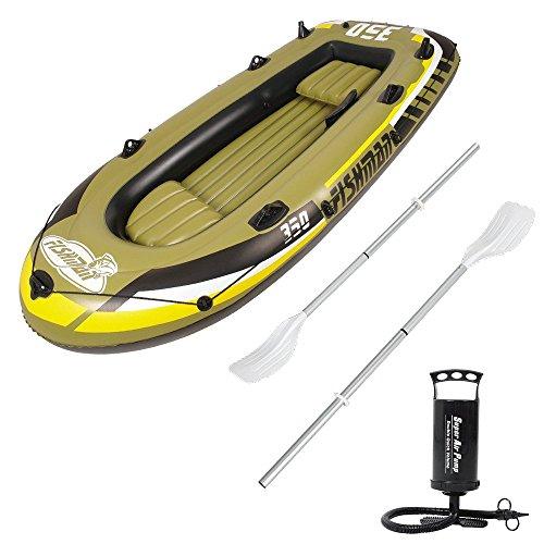 - senza marca/generico - gommone fishman per pesca mare lago fiume 340x142cm gonfiabile con remi 07210-1