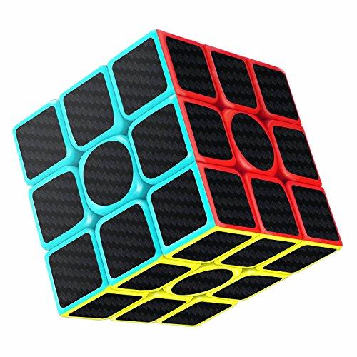 Cube Magique, Lora&Chat 3x3x3 Speed Cube de Vitesse Magique Lisse Facile à Tourner pour Jeu d'entraînement Cérébral ou Cadeau de Vacances