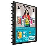 ELBA 100421115 Kunststoff-Ringmappe polyvision DIN A4 mit vario-zipp-Prinzip 20 transparente