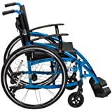 Drive Medical XSES18BL Enigma Spirit - Silla de ruedas (45,7 cm), color azul