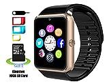 Reloj Inteligente SMARTER® YG8 Bluetooth Reloj Inteligente de Muñeca con Pantalla Táctil / Manos Libres / Cámara / anti-perdida / Recordatorio de llamada para Android (Oro)