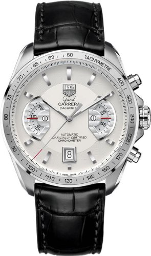 TAG Heuer CAV511B.FC6225 - Reloj de Pulsera Hombre, Cuero, Color Negro