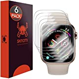 Skinomi TechSkin, Schutzfolie kompatibel mit Apple Watch Series 4-44 mm. wasserabweisend, Edge to Edge, 6er Pack