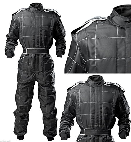 wholesale dealer 9e4bc 7b002 Go Kart Cordura Race Suit BLACK (68   XXXL)