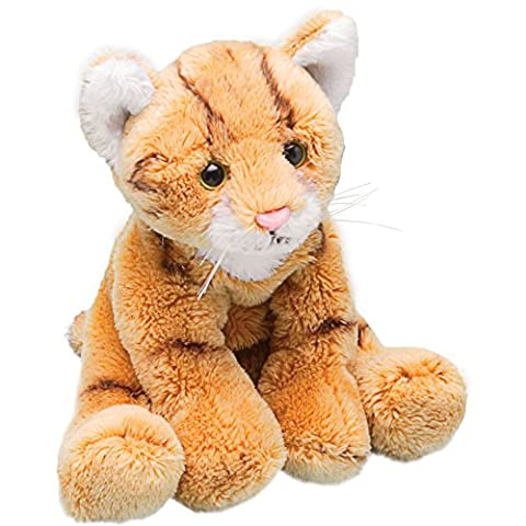 Top Selling Soft Plush Stuffed Cuddly Animal Toy - Small Orange / Ginger Tabby Cat - A Charming Gift Idea for Birthdays For Boys &