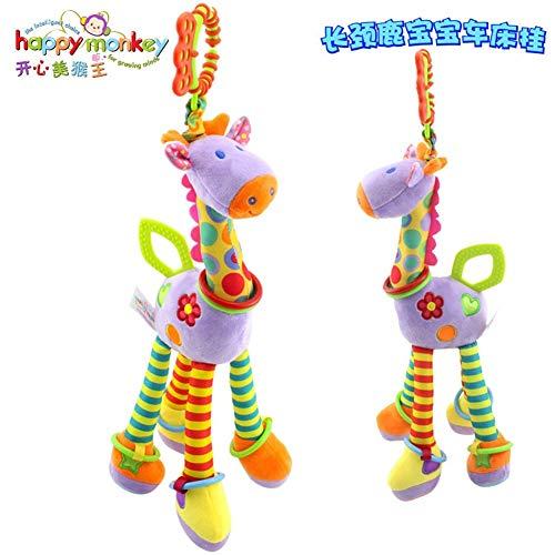 Del giocattolo del bambino sonaglio Baby doll for placare la giraffa bambino giocattoli di peluche tornio appeso bambola campana placare guttaperca Può essere usato come un bambino lenitivo
