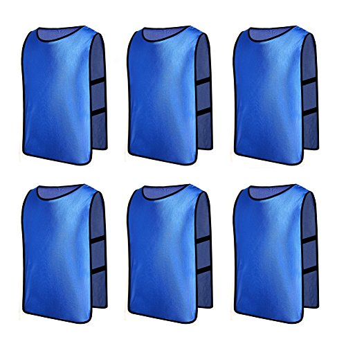 6 X Senston Deportes pinnies adulto Scrimmage chalecos de entrenamiento de fútbol  baberos Deep Blue. 5a8228a7b9d6b