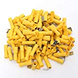 GIlH 100 Stück 12–10 AWG isolierte gelbe Splice Stecker Crimpen Elektrische Terminals