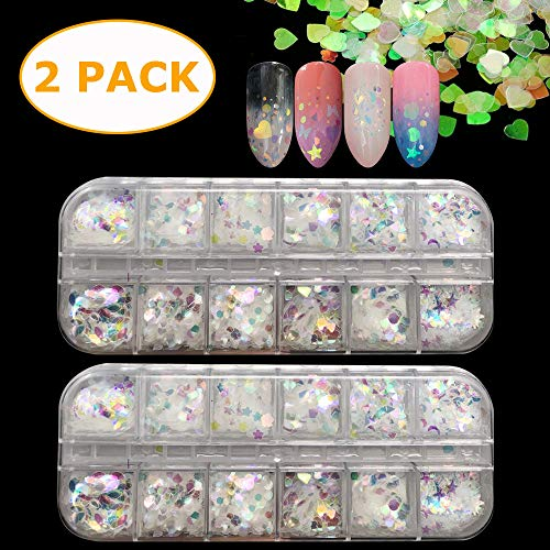 24 cajas cosméticos holográficos Festival Chunky