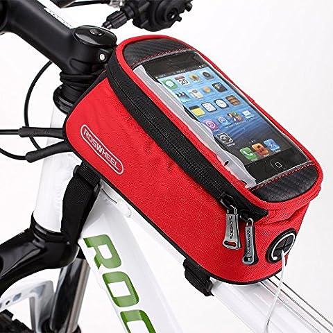 WayIn® Roswheel Alforja Bolso Bolsa Funda Móvil de Bicicleta Bici Bolso del tubo del frente del marco para teléfono 5.5