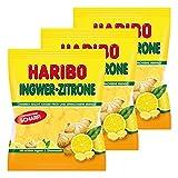 Haribo Zenzero-Limone, Caramelle Gommose alla Frutta, Bonbon, 3 Sacchetti da 175g