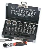 Rothewald® Mini Ratschen- und Bit-Set Metrisch, 26-teilig