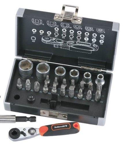 Preisvergleich Produktbild Rothewald® Mini Ratschen- und Bit-Set Metrisch, 26-teilig