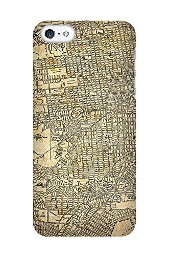 iPhone 4/4S Coque photo - Retro Map San Francisco Sépia