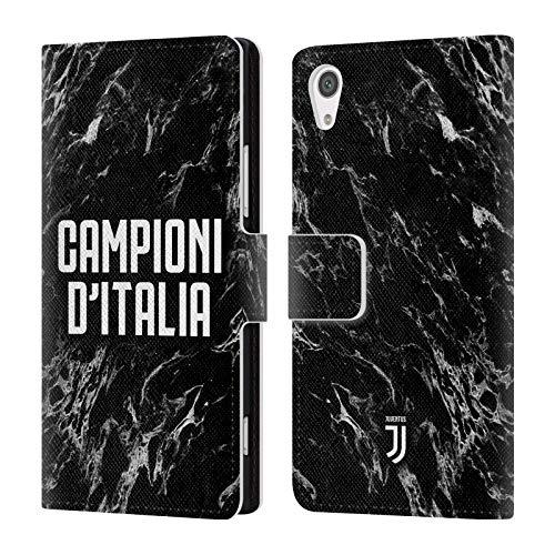 Head Case Designs Offizielle Juventus Football Club Marmor 2018 Campioni D'Italia Leder Brieftaschen Huelle kompatibel mit Sony Xperia XA1 / Dual