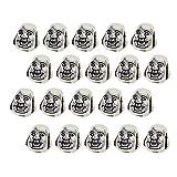 Fenteer 20 Pièces Perles d'Espace Perles Lâche Argent Tibétain Forme Bouddha pour Collier Bracelets Bracelets de Cheville