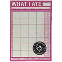 Knock Knock What I Ate Notepad Food And Liquid Drink Tracker (Hot Pink)