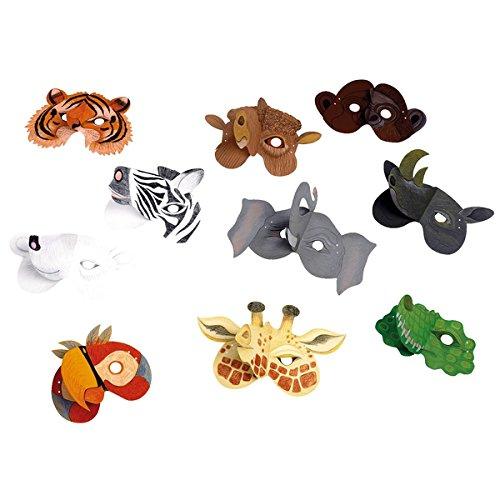 HABA 076981 - Máscaras (20 unidades), diseño de animales salvajes