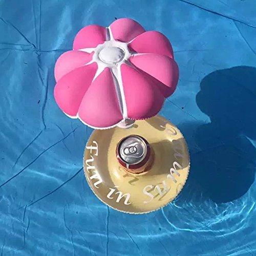 Zantec Aufblasbarer Pool Float Drink Holder Lovely Mushroom Shape Cup Halter für Kinder Bad Pool (Aufblasbare Ninja)
