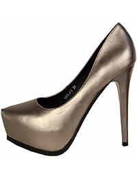SFSYDDY scarpa da donna 13?cm super tacco alto modello Snake a punta testa singola scarpa impermeabile tavolo...